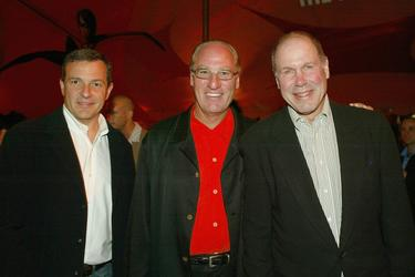 Bob Iger, Craig T. Nelson and Michael Eisner at the after party of the premiere of &quot;The Incredibles.&quot;